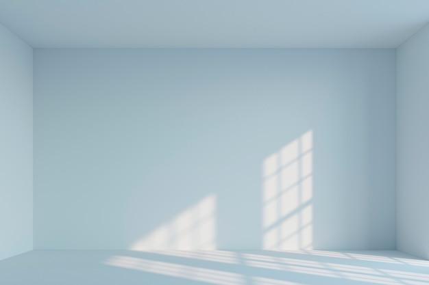 空の白いシンプルな部屋。 3dレンダリング