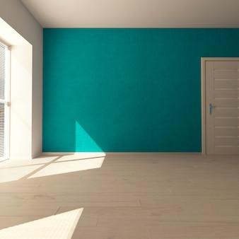 3d現代的な空の部屋