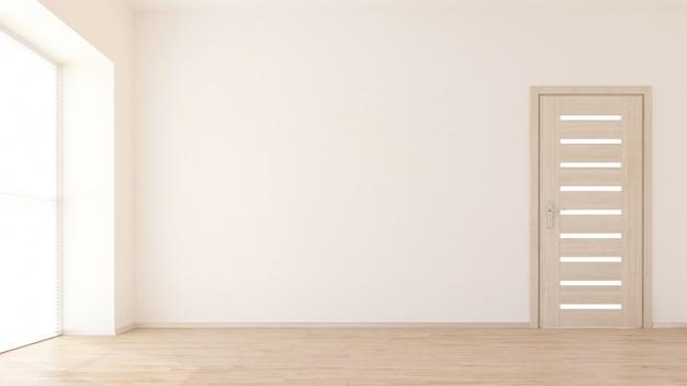 3d визуализация пустого интерьера комнаты