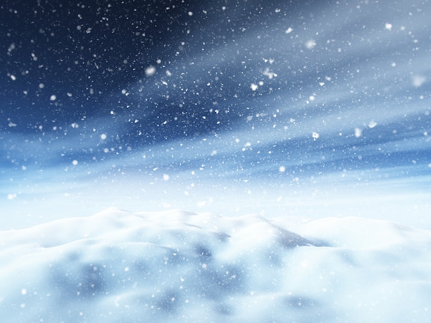 3dクリスマスの雪景色