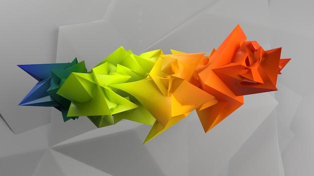 3d幾何学的な抽象的な背景