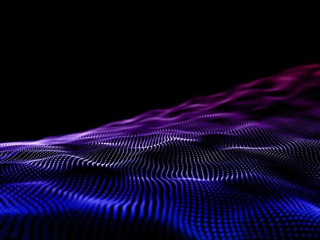 Современная предпосылка 3d с пропуская частицами. сетевые коммуникации.