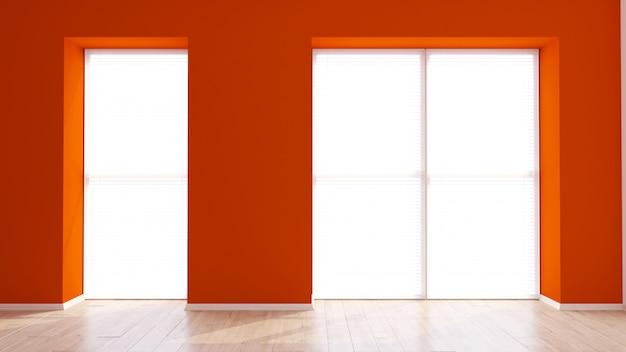 3d現代の空の部屋