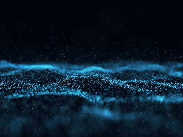 3d абстрактный фон с футуристическими частицами