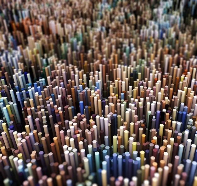3d абстрактный пейзаж выдавливающих сфер
