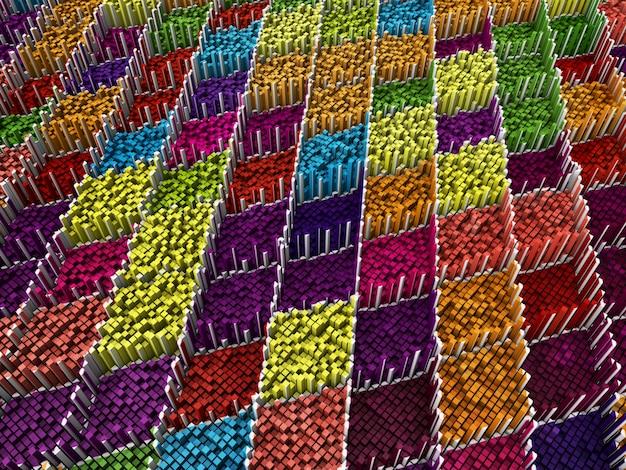 3dの抽象的なピクセルの背景