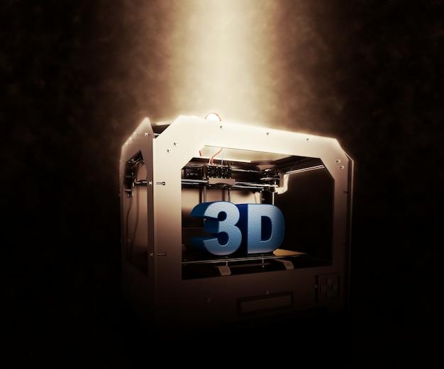 抽象的な線で金属3dプリンター