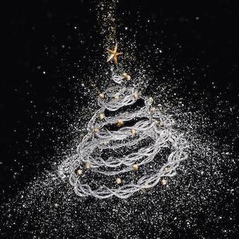3d рождественская елка с взрывающихся эффект блеска