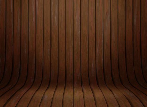 3d曲線の木製のプレゼンテーションの背景