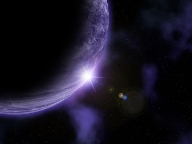 3d抽象的な宇宙シーン