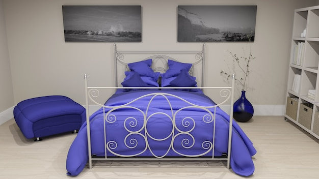 3d интерьер спальни