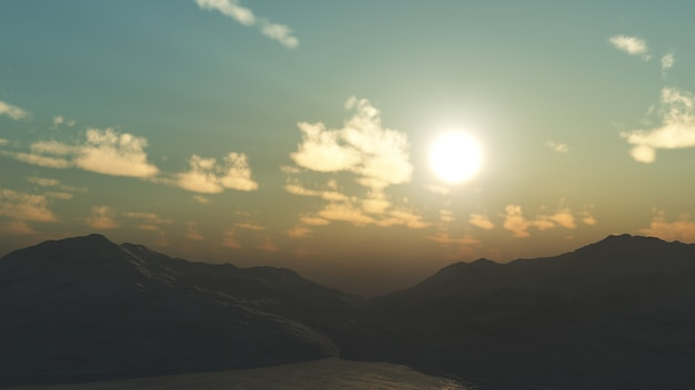 3d山の景色