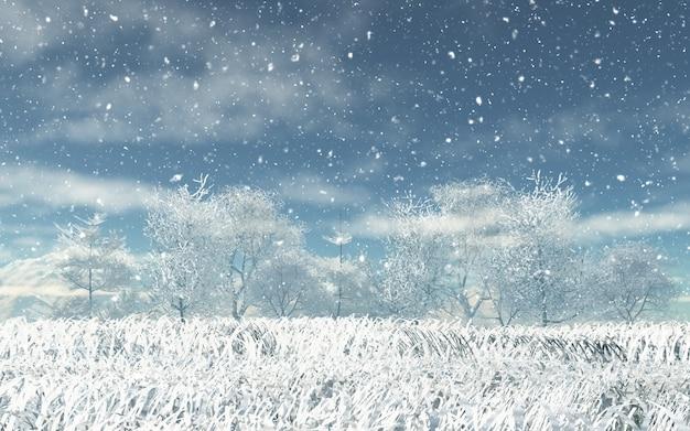 3d雪景色