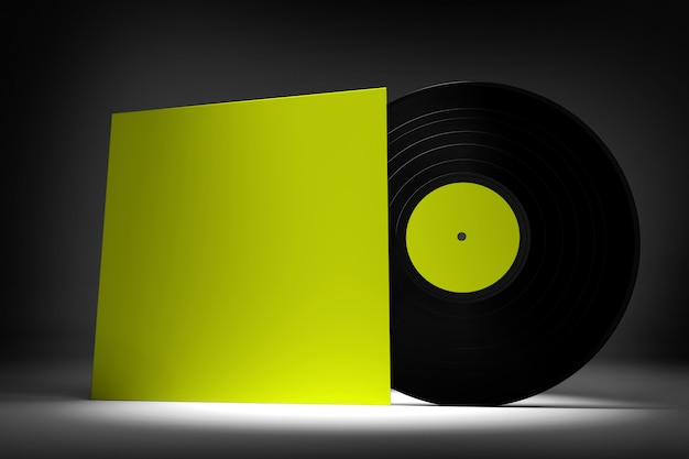 Виниловая пластинка - 3d рендеринг