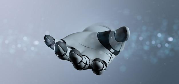 Киборг рука робота - 3d-рендеринг