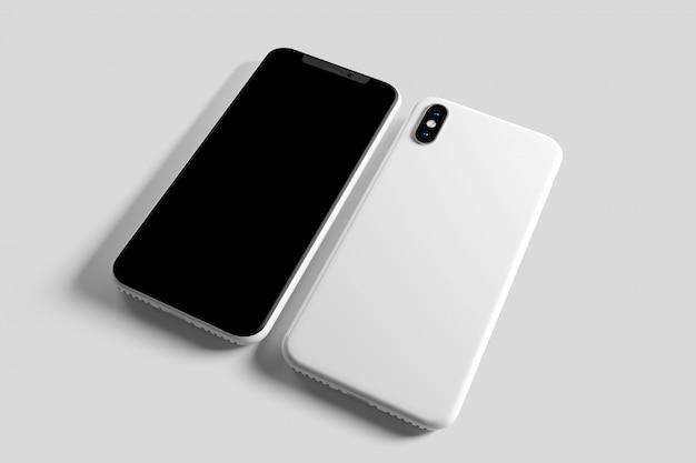 スマートフォンの画面とケース-3dレンダリング