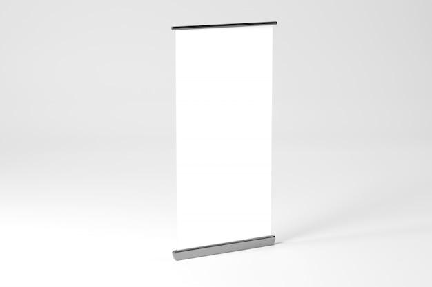 Свернуть рекламный баннер - 3d-рендеринга