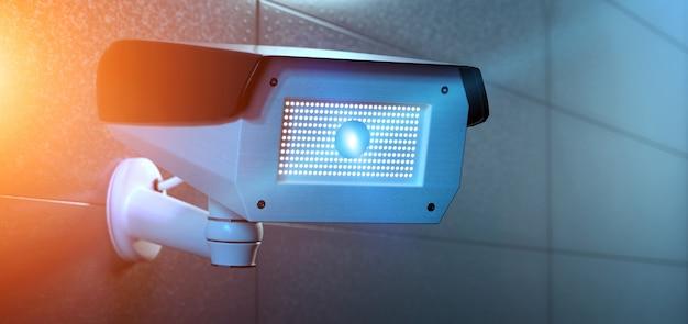 Камеры видеонаблюдения с системой видеонаблюдения - 3d-рендеринг