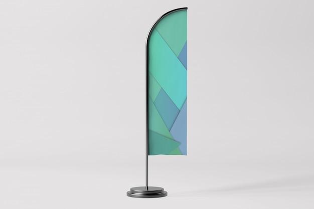 Флаг рекламы - 3d-рендеринг