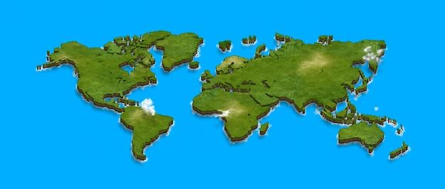3d世界地図