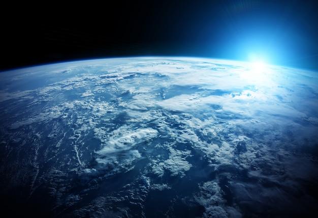 スペース3dレンダリングでの惑星地球