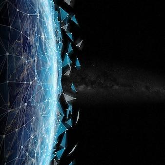 Система соединений и обмен данными на планете земля 3d рендеринг
