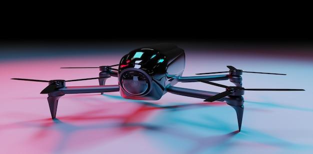 Современный дрон 3d рендеринг