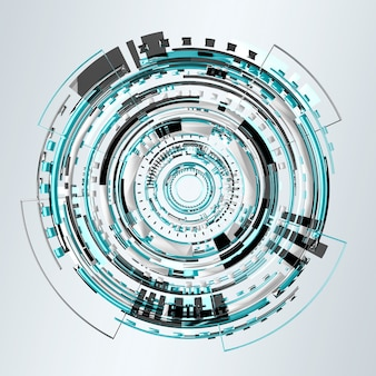 3d рендеринг цифровой технологии синий интерфейс