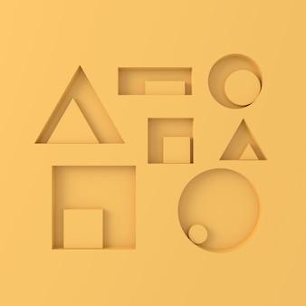 Абстрактный фон из геометрических фигур. 3d-рендеринг.