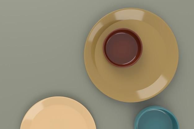 Абстрактный фон из керамики. 3d-рендеринг.