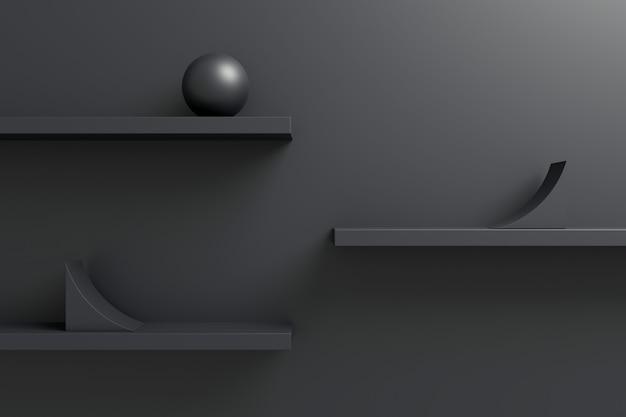 幾何学的図形の抽象的な背景。 3dレンダリング。
