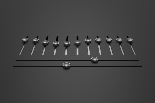 Абстрактный фон эквалайзера. 3d-рендеринг.