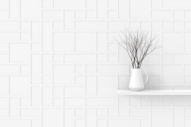 モダンな壁のデザイン。 3dレンダリング。