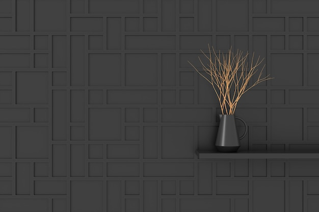 Современный дизайн стен. 3d-рендеринг.