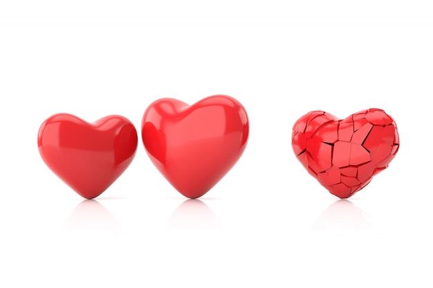 失恋の背景。 3dレンダリング。