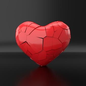 失恋。 3dレンダリング。
