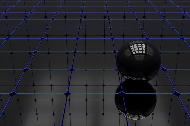 Абстрактный фон геометрической формы. 3d-рендеринг.