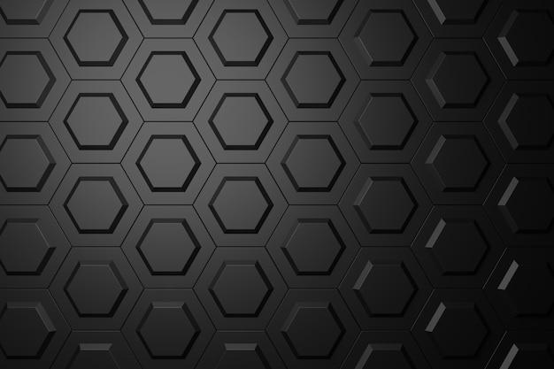 六角形の抽象的な背景。 3dレンダリング
