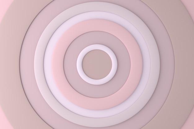 サークルの抽象的な背景。 3dレンダリング。