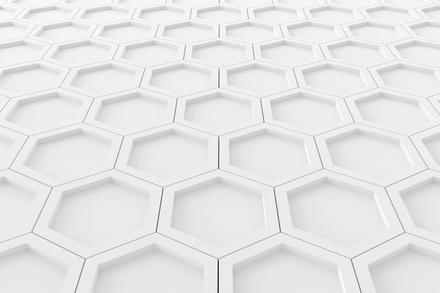 六角形の抽象的な背景。 3dレンダリング。