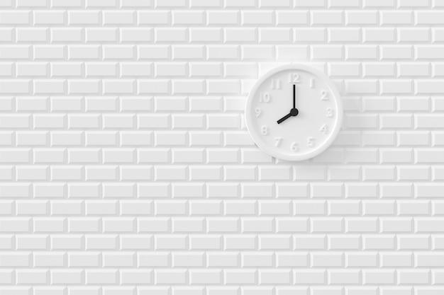 壁の時計の最小限の背景。 3dレンダリング。