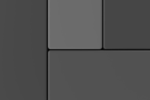 四角形の抽象的な背景。 3dレンダリング。