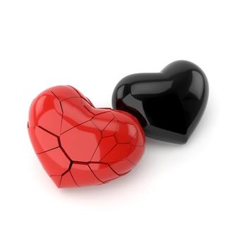 悲嘆の概念を持つ心臓モデル。 3dレンダリング。