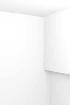白のインテリアデザインの抽象的な背景。 3dレンダリング。