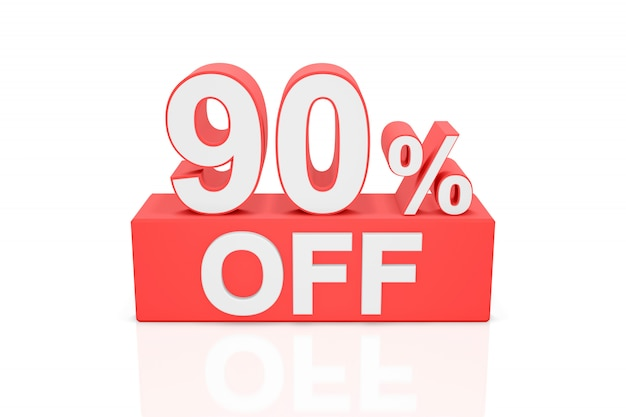 Девяносто процентов от продажа баннеров. 3d-рендеринг.