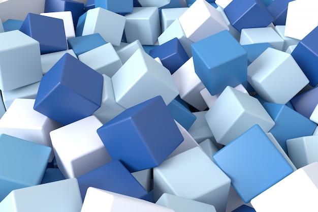 Абстрактный фон из кубиков. 3d-рендеринг.