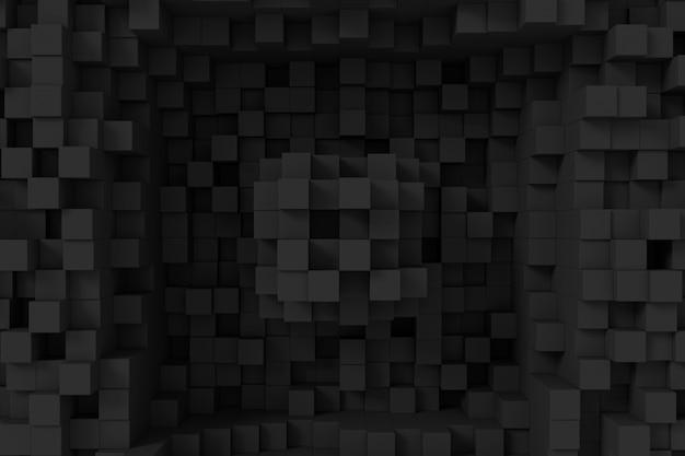 キューブの抽象的な背景。 3dレンダリング。
