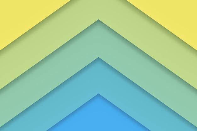 カラフルな紙の抽象的な背景。 3dレンダリング。