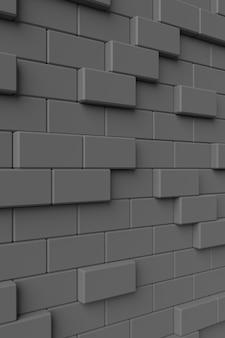 モダンな壁。 3dレンダリング。