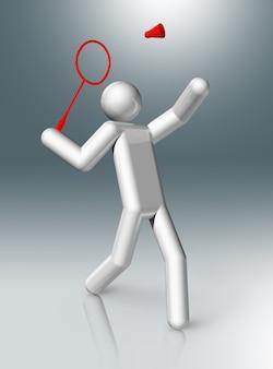 バドミントン3dキャラクター、オリンピックスポーツ